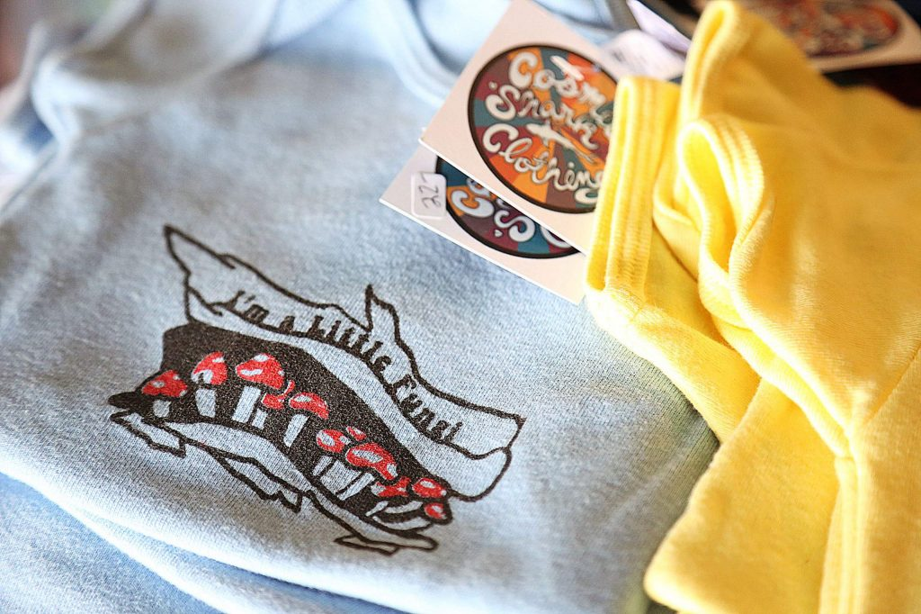 Even some baby clothing apparel can be found at Cosmic Shark Clothing in Grass Valley.