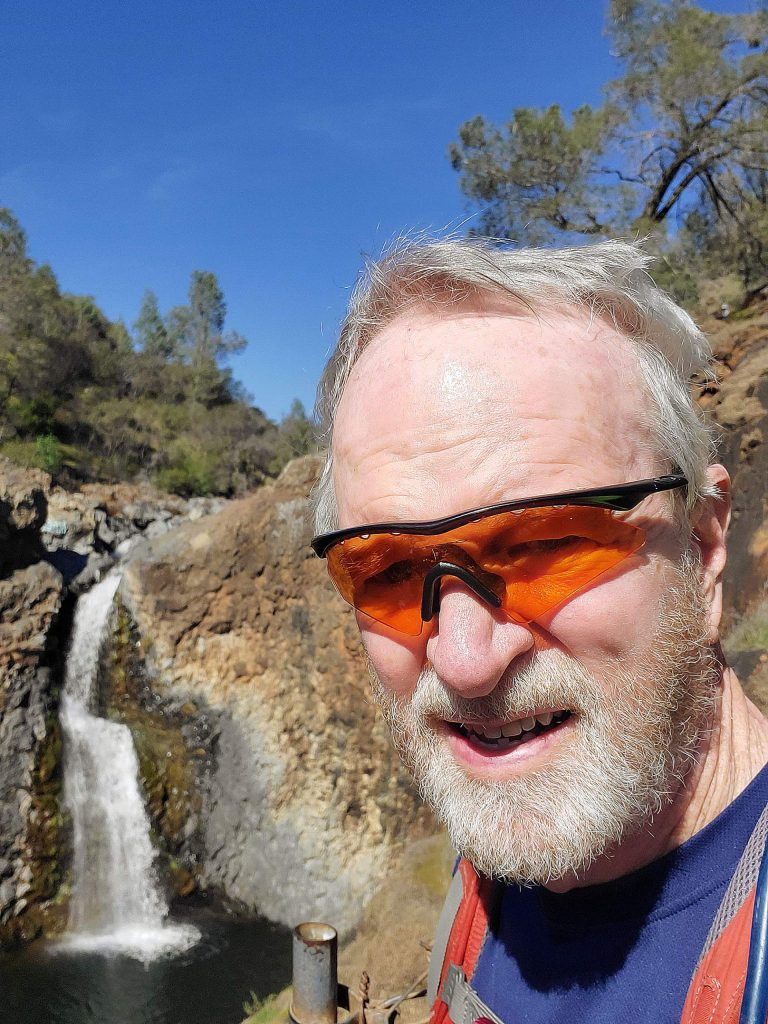 The photographer (Alan Cary) at Fairy Falls.