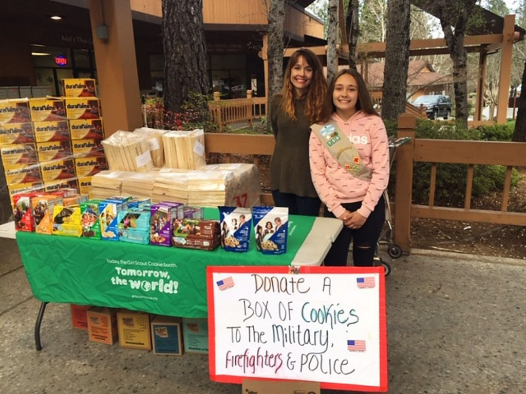 Jayden is a Girl Scout Cadet selling our beloved Girl Scout Cookies in Penn Valley.