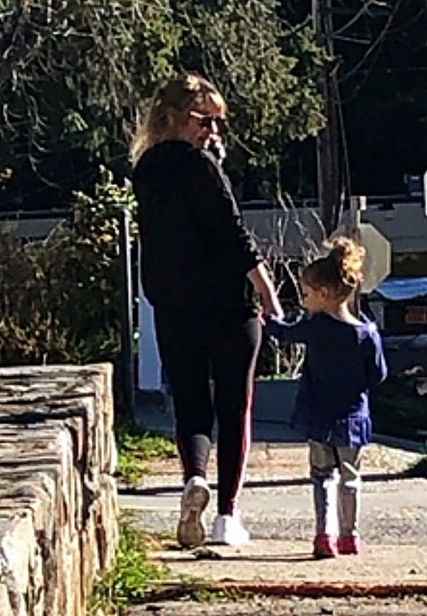 Mother and daughter taking a stroll in Nevada City.