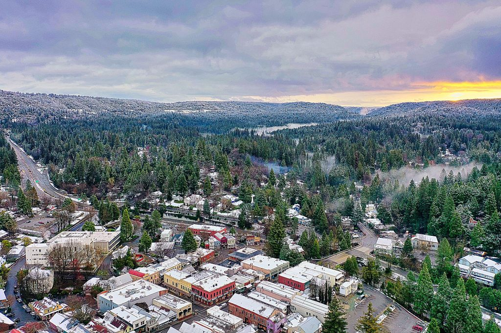 Early morning in Nevada City on March 17.