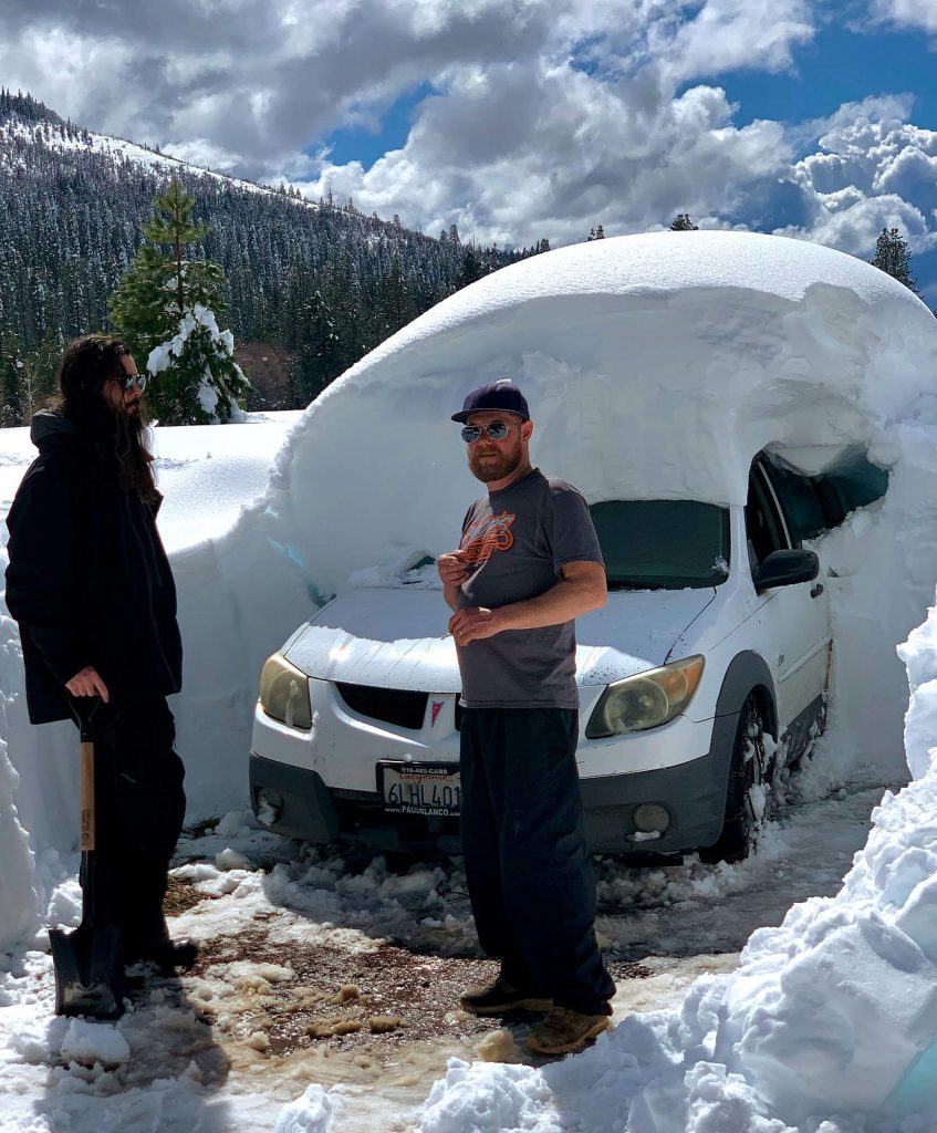 Digging out the car from under… Bear Valley Thursday, March 18.