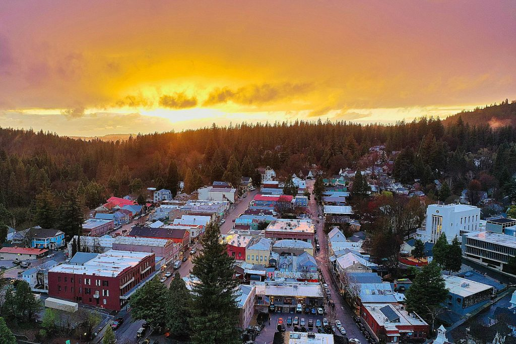 Sunset over Nevada City on March 14.