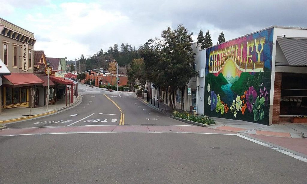 This was taken on Sunday afternoon (March 29) and shows the affect on Grass Valley's traffic and parking with those who must be sheltered at home.