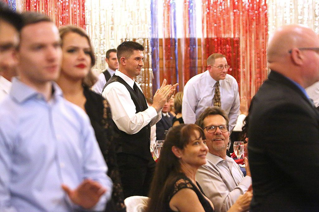 Bill and Susan Drown were given a standing ovation during the annual Red Light Ball at the Alta Sierra Country Club.