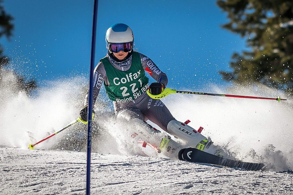 Colfax's Karina Martel earned a pair of top-five finishes at the CNISSF State Championships last week, placing second in slalom and third in giant slalom.