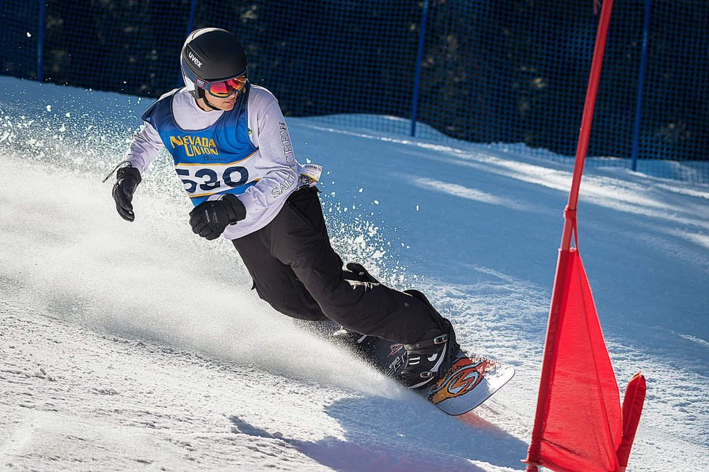 Cole Fletcher led the Nevada Union boys snowboarders with a 53rd place finish in slalom and a 69th place finish in giant slalom at the CNISSF State Championships.