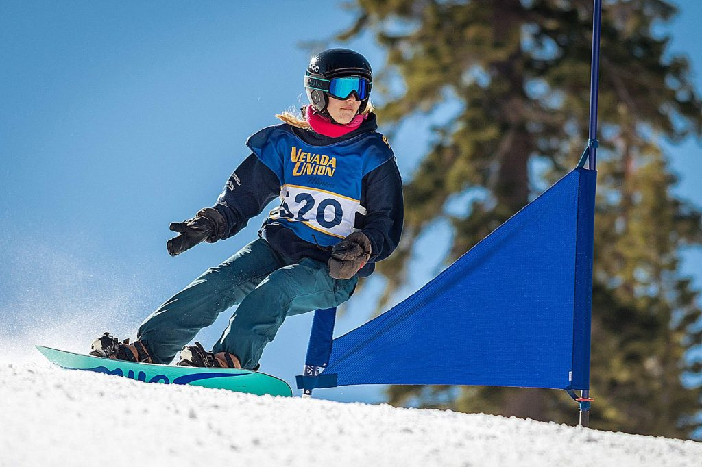 Nevada Union's Hazel Kyle placed 12th in the girls giant slalom race, and took 16th in slalom at the CNISSF State Championships last week.