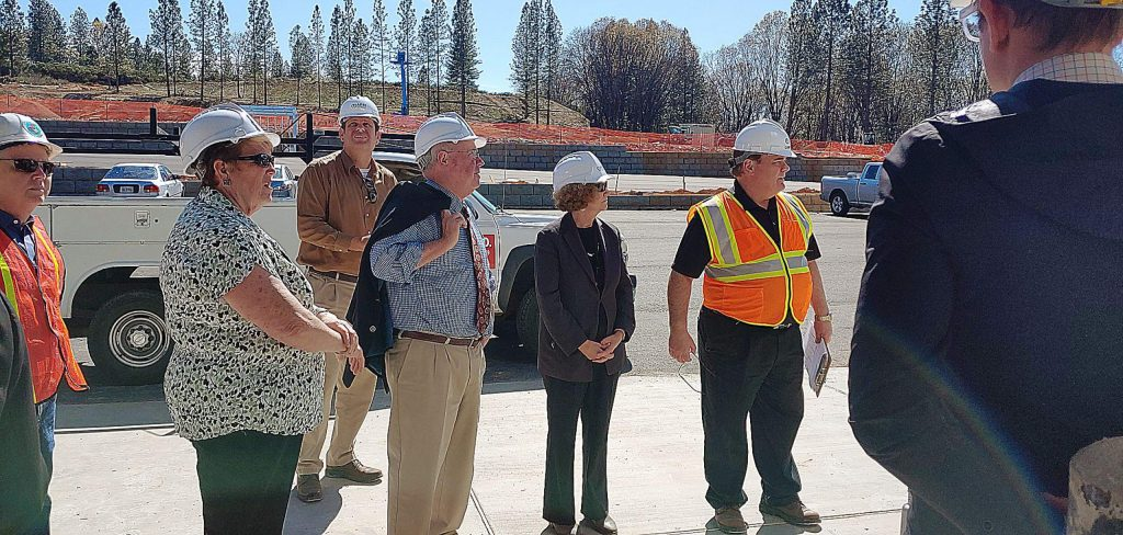 The Nevada County Board of Supervisors on Tuesday toured the county's new operations center at 12350 La Barr Meadows Road. Completion of the facility is expected in June.