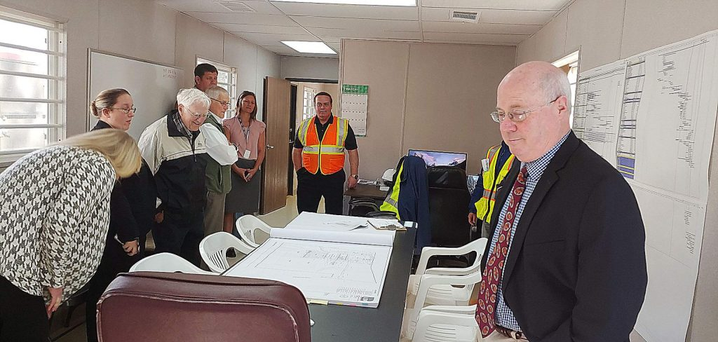 Supervisor Richard Anderson, right, was one of a handful of officials who took the Tuesday tour.