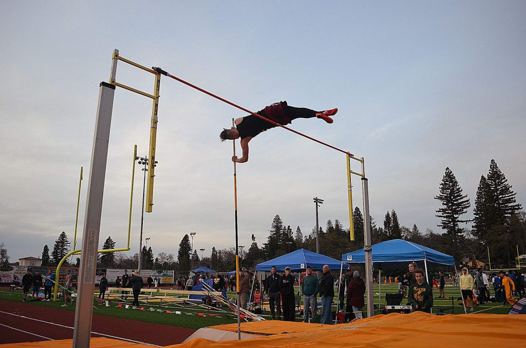 Bear River senior Zach Fink placed third in boys pole vault at the Le Febvre Relays at Placer High School.