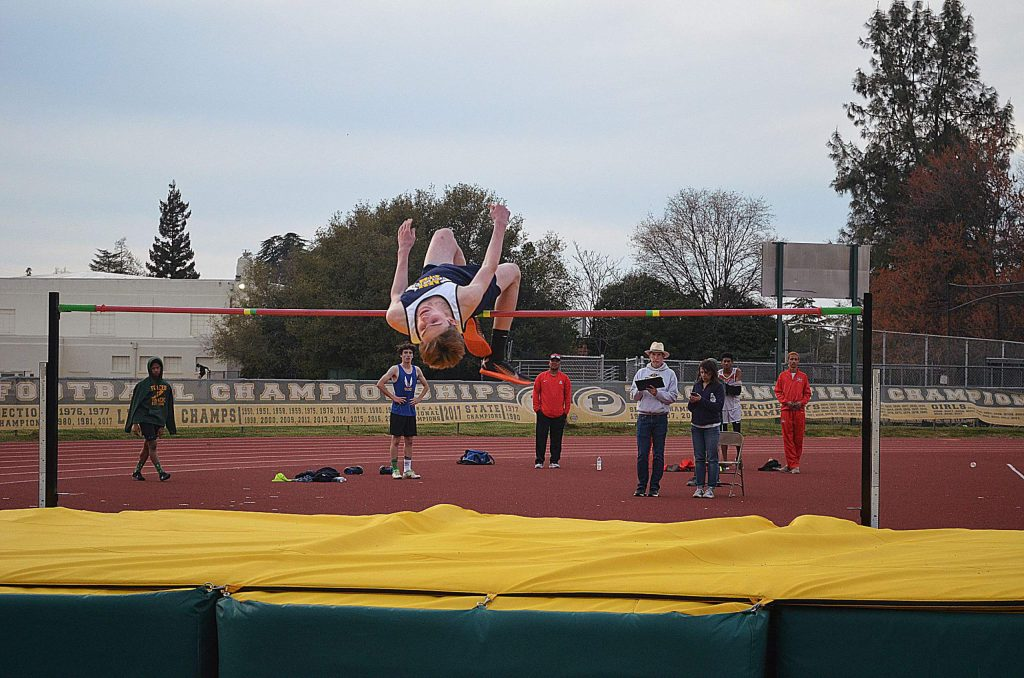 Nevada Union's Ben Brott competes at the Le Febvre Relays at Placer High School.