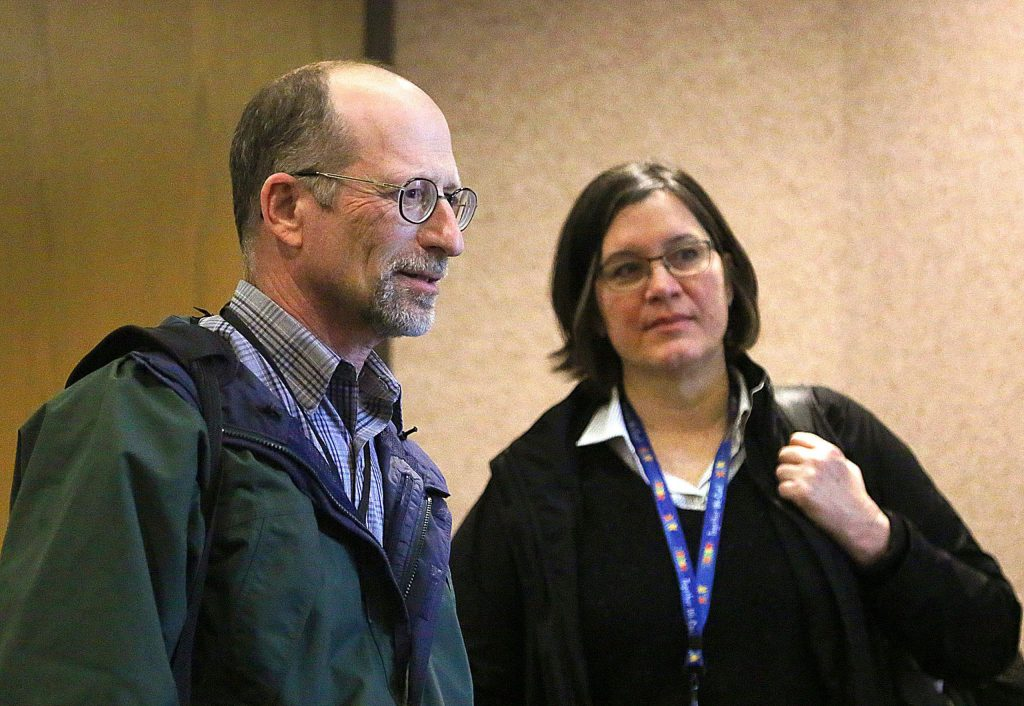Nevada County Pulbic Health Officer Dr. Ken Cutler, left, and Nevada County Public Health Director Jill Blake have been busy working with schools, first responders, health care providers, and community inquiries about the coronavirus.