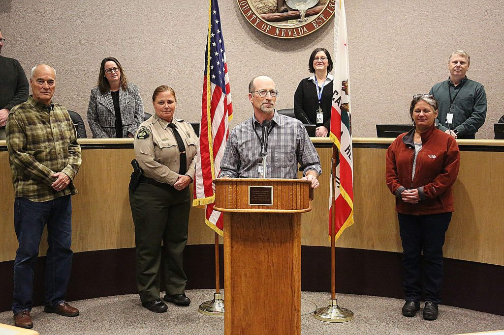 Nevada County's Public Health Officer Dr. Ken Cutler addressed the people of Nevada County via live stream during a press conference Monday afternoon at the Eric Rood Administrative Center.