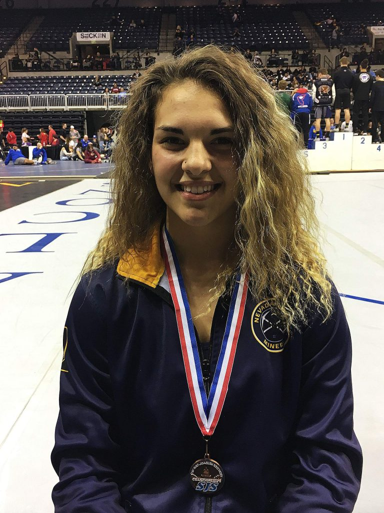 Nevada Union's Amanda Beall medaled at several elite tourneys during the regular season, placed seventh at the Regional tourney and took fourth at Masters.