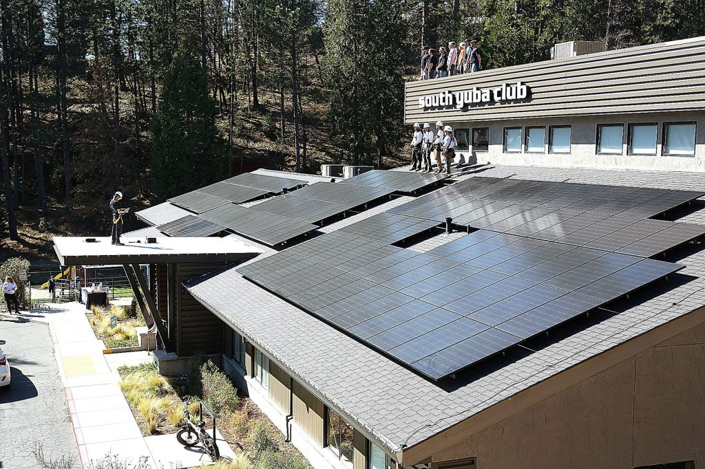 The South Yuba Club in Grass Valley has recently had various solar panel arrays installed on the roof of their health club by Sustainable Energy Group.