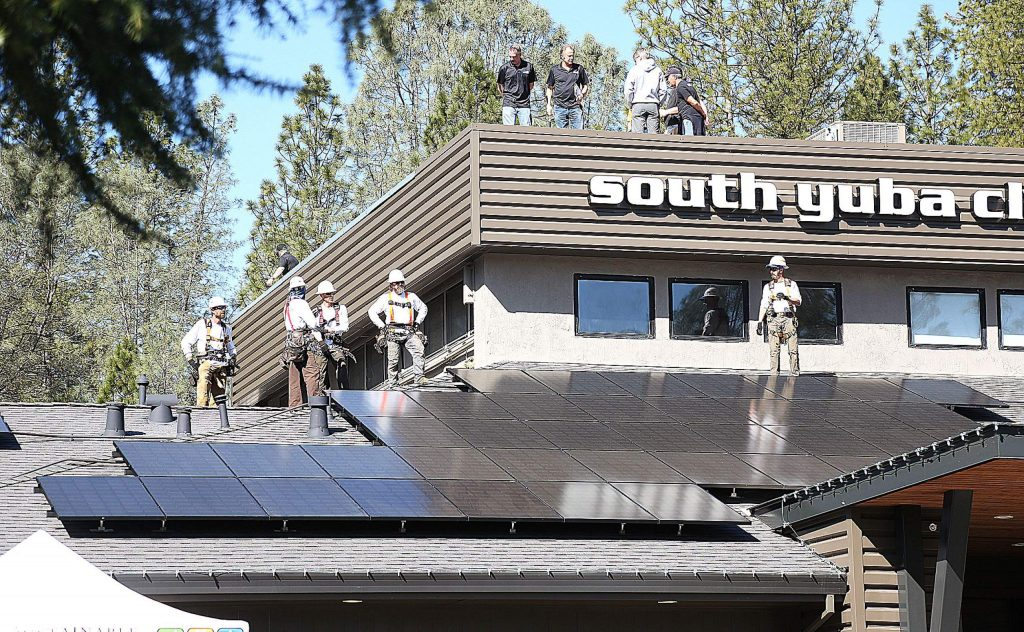 Visitors to the South Yuba Club will now be quick to notice the Sustainable Energy Group solar panel arrays now online at the gym.