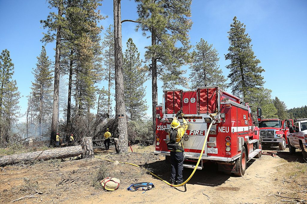 On Friday April 24, Grass Valley, Cal Fire, Ophir Hill, Placer Hills, and other area firefighters responded to reports of a vegetation fire next to a homeless encampment on the 11,300 block of East Bennett Road behind DeMartini's RV. The cause of the fire was undetermined.