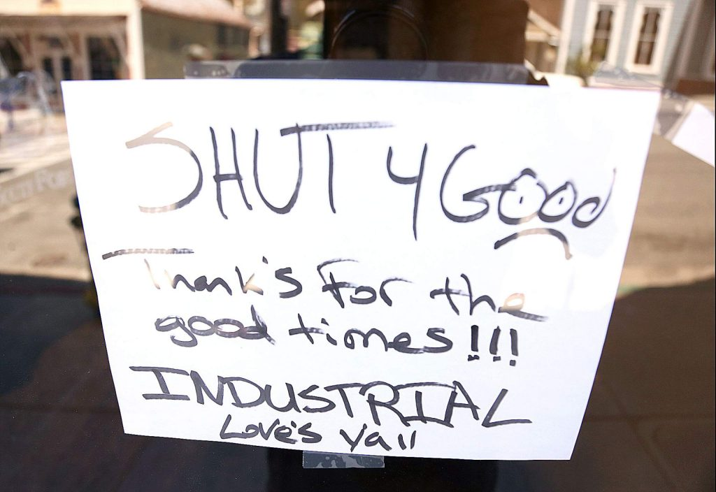 Industrial off of Broad Street in downtown Nevada City is just one western Nevada County business that has closed its doors for good during the COVID-19 shutdowns.