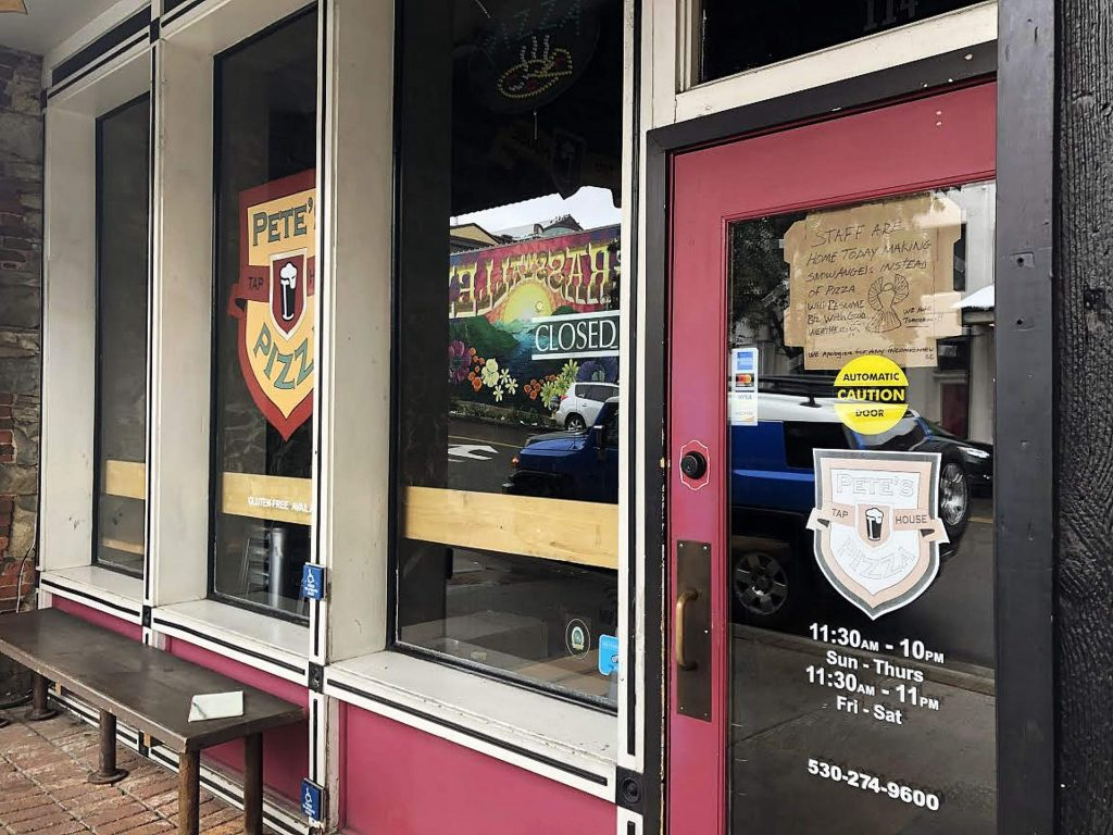 Pete's Pizza was closed in mid-March due to the inclement weather. Today, Pete's, like many nonessential businesses, are trying to stay afloat via federal loans and proper budget balancing.