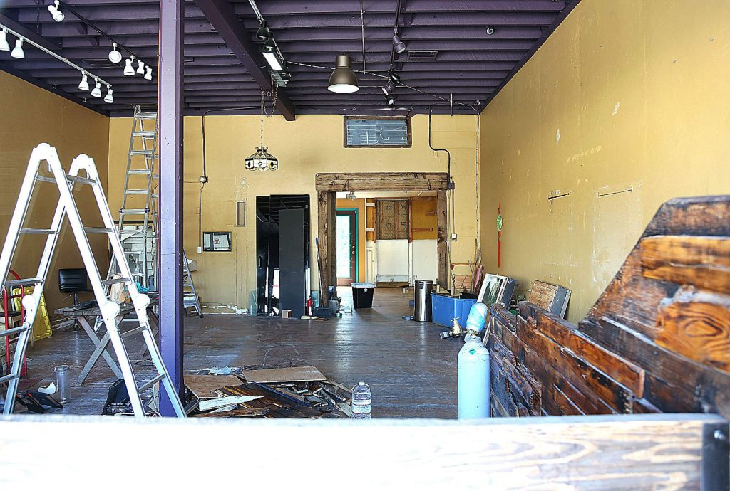 The interior of Industrial in Nevada City reveals a deconstructed former self of the eclectic Nevada City shop that offered body piercing, Native American jewelry, sculpture, gold, crystals and other items for home and body.