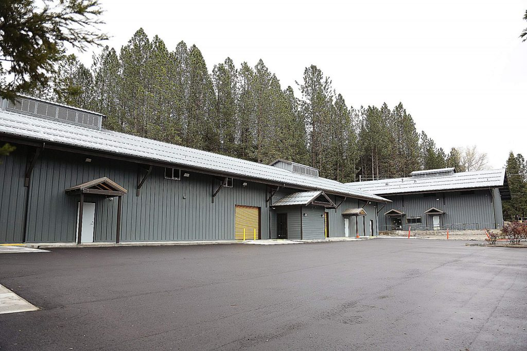 A fresh asphalt parking lot has been put in place at Nevada City's cannabis campus off Searls Avenue.