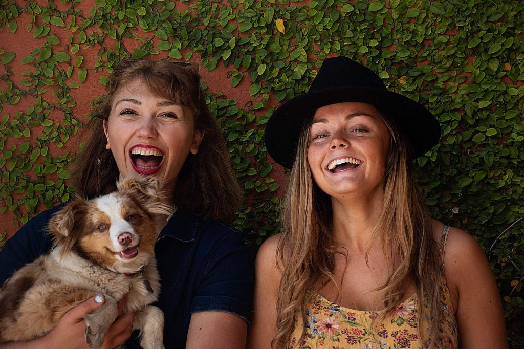 Nevada County natives Anabella Funk, left, and Mia Coffin have launched their new podcast,,