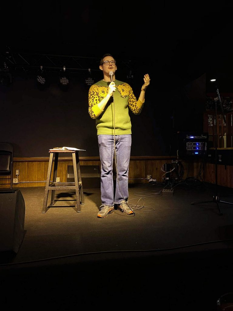 Local comedian Trevor Wade is using Instagram to host Tuesday night open mic nights.