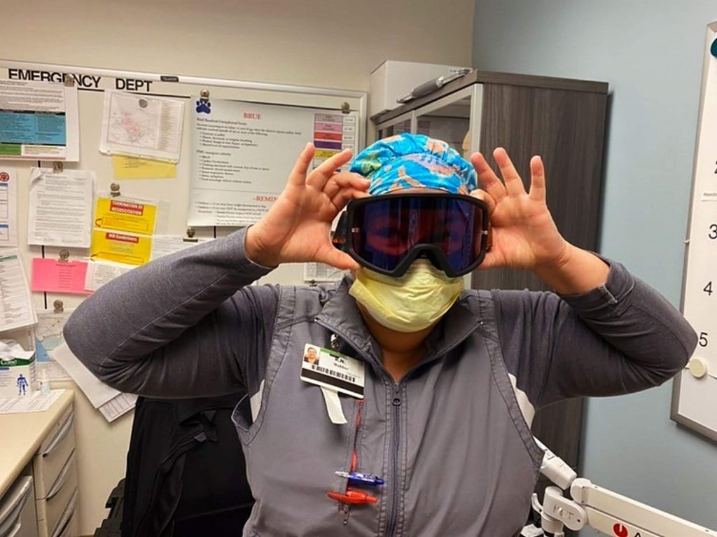 More than 12,000 goggles have been sent out to healthcare workers around the nation.
