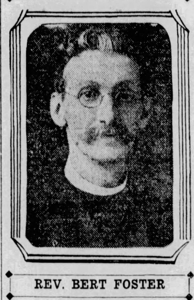 The Rev. Bert Foster, DD., served as pastor (or as Episcopalians say, rector) of Emmanuel Episcopal Church, Grass Valley, from 1912 to 1920.