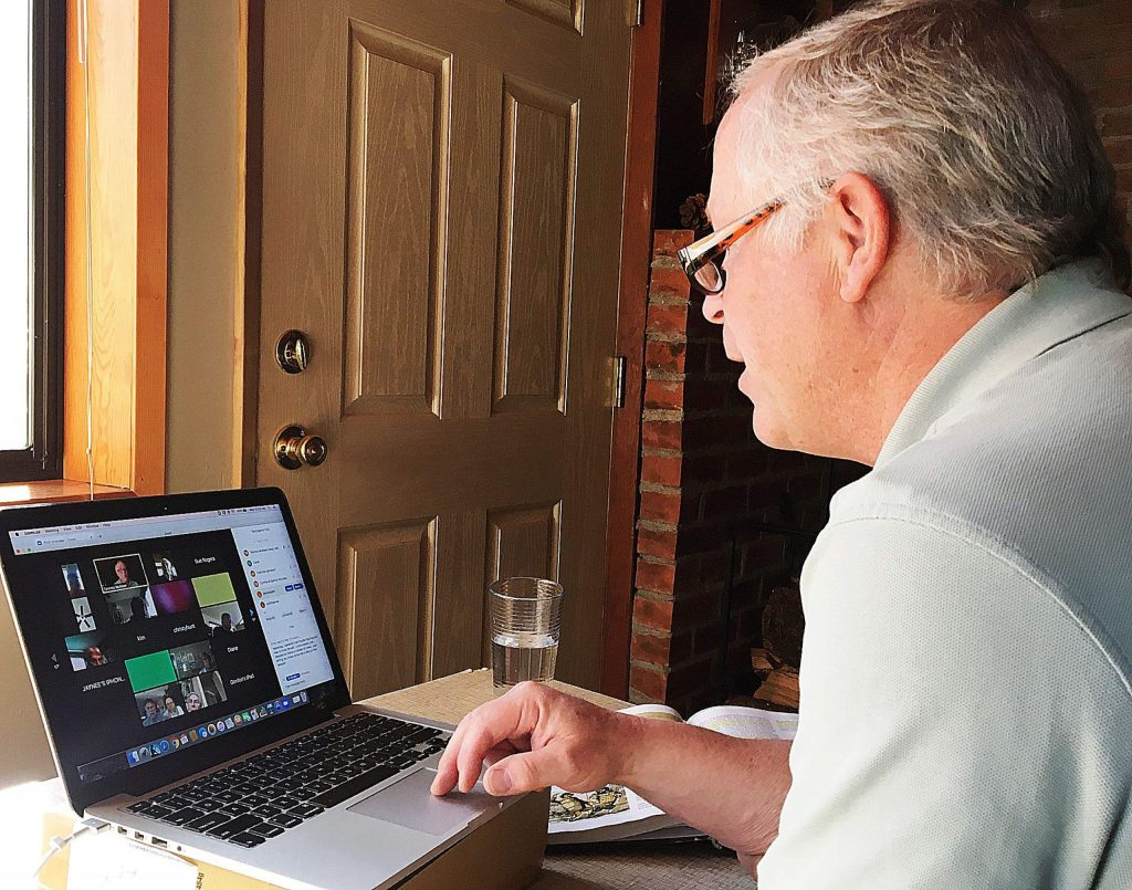 Retired Nevada County Superintendent of Schools Dr. Terry McAteer teaches online classes through Sierra College-Nevada County Campus. Some of his classes have more than 175 students enrolled.