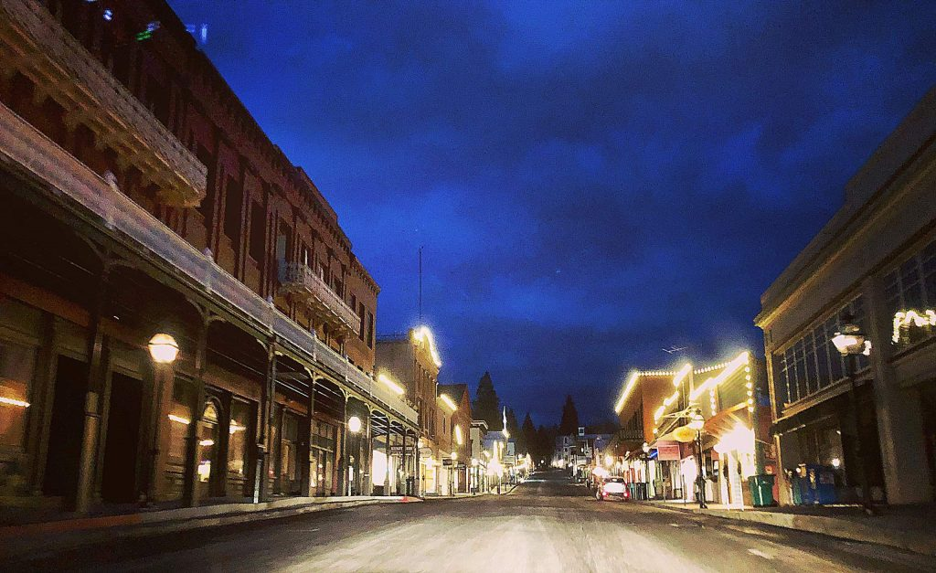I took this photo Friday (March 20) at 6:30 am. of downtown Nevada City.