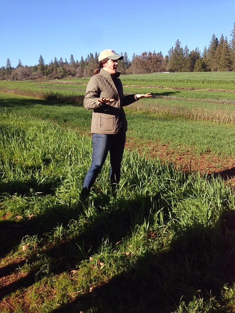 Grace giving us the tour during February's Farm Conference field day.