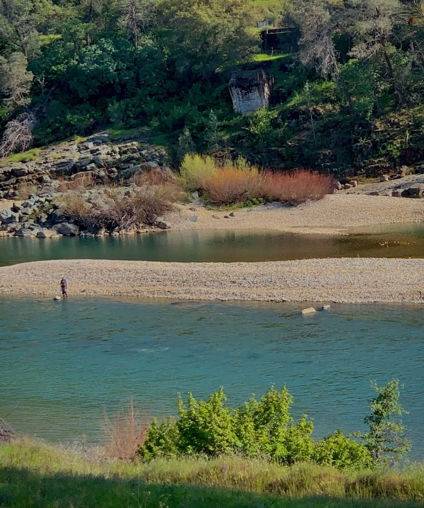 A fisherman at the Yuba River near Smartsville on Friday afternoon, April 3.