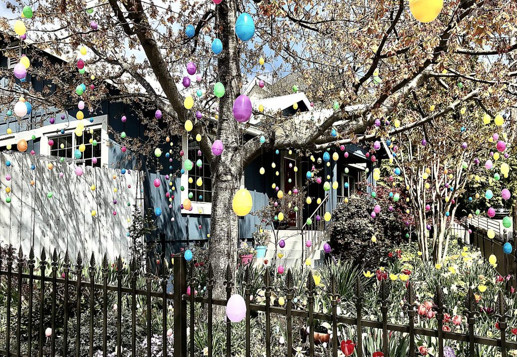 Most wonderfully creative whimsical Easter house in Grass Valley.