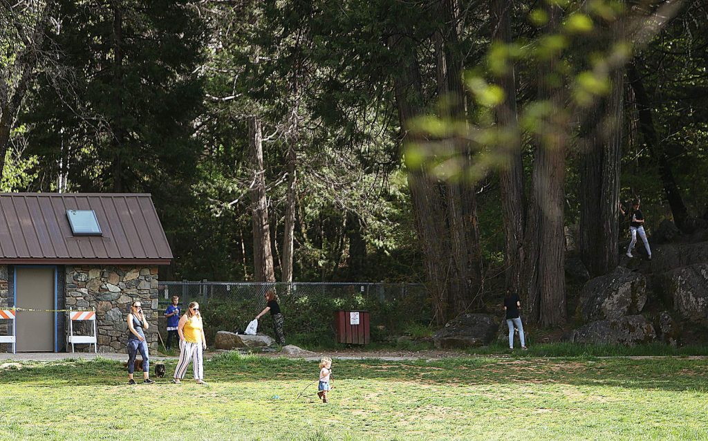 The trails of Pioneer Park officially reopened on Saturday and folks could be seen enjoying the open space.