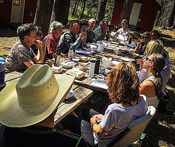 FOREST FIRE and its companion public and educational engagement platforms, Fire Circle and Forest Home, is a new project engaging the local community living within the Tahoe National Forest curated by Nevada County Arts Council Artist-in-Residence Michael Llewellyn.