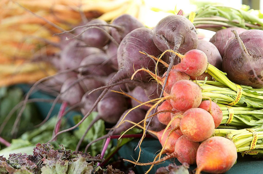 Fresh and colorful vegetables from growers all across the Northern California region are available Saturday mornings from 8 a.m. to 1 p.m. in Grass Valley's Kmart parking lot.
