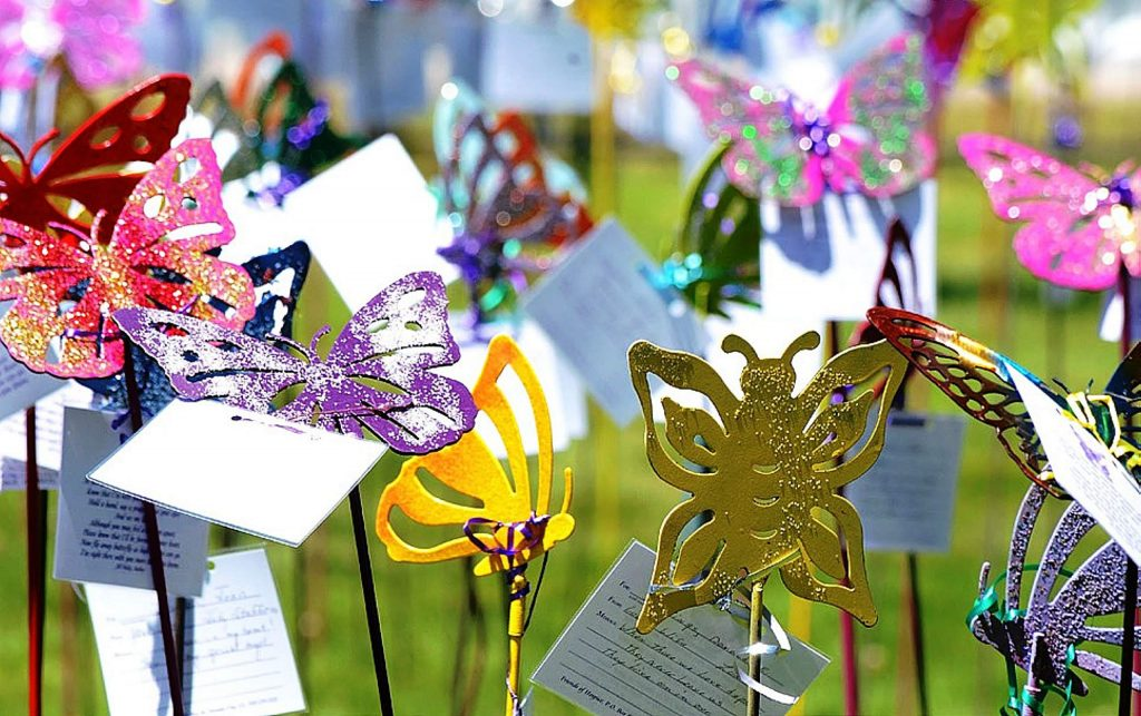 Hundreds of butterflies and personal notes pay tribute to loved ones at the Butterfly Garden of Remembrance at Hooper & Weaver Mortuary this Memorial Day weekend.