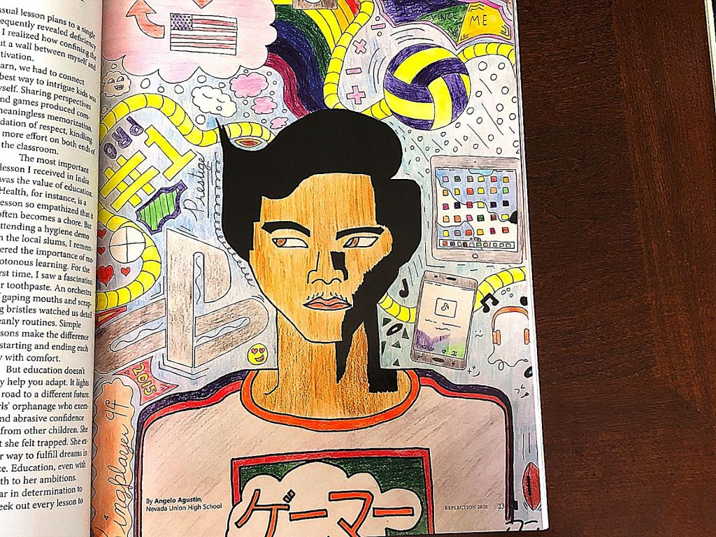 A drawing by Angelo Agustin in the first issue of the Nevada Joint Union High School student literary magazine Reflection. The magazine was published in April.