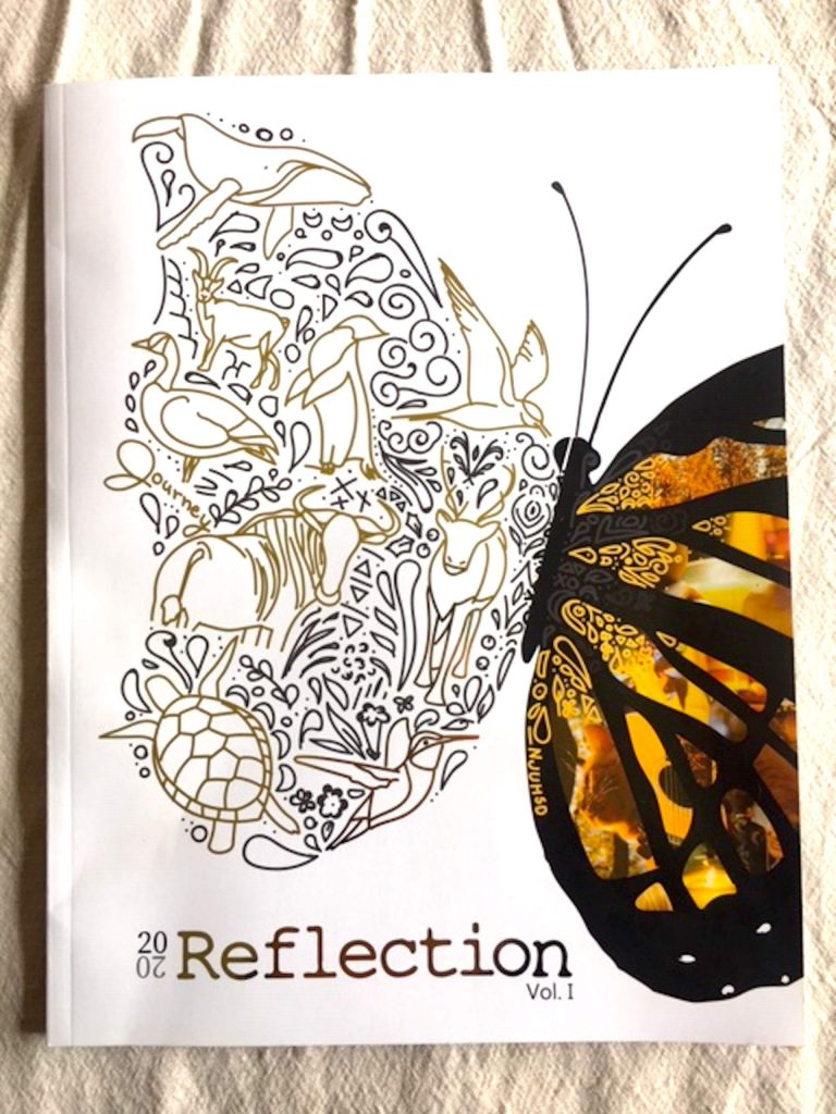 The cover of the magazine Reflection. The process for creating the magazine was strikingly professional, according to Nevada Joint Union High School Superintendent Brett McFadden.