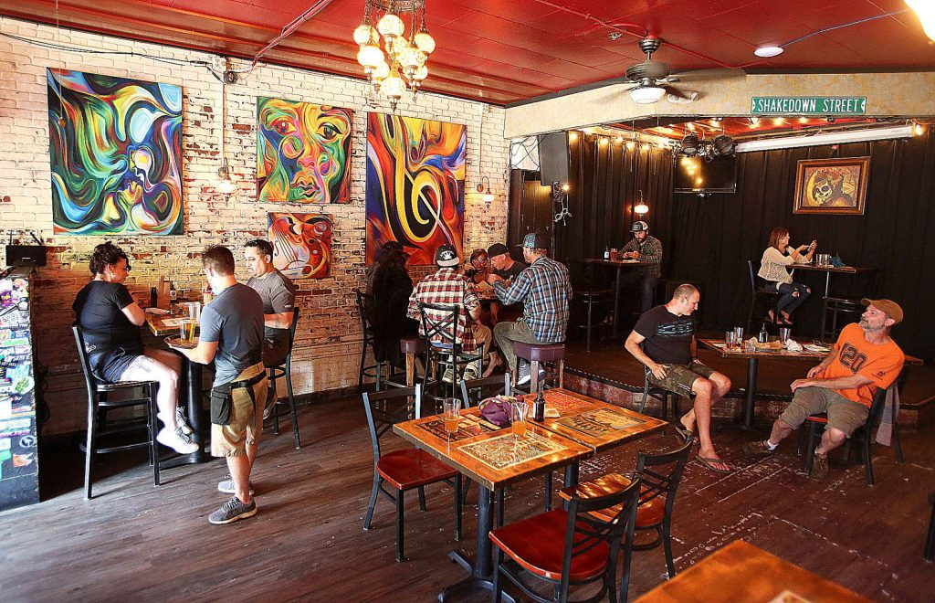The Crazy Horse Saloon and Grill in Nevada City recently reopened its doors to dine-in customers and catered to day tourists and locals alike. Staff and customers await the day they can host live music again.