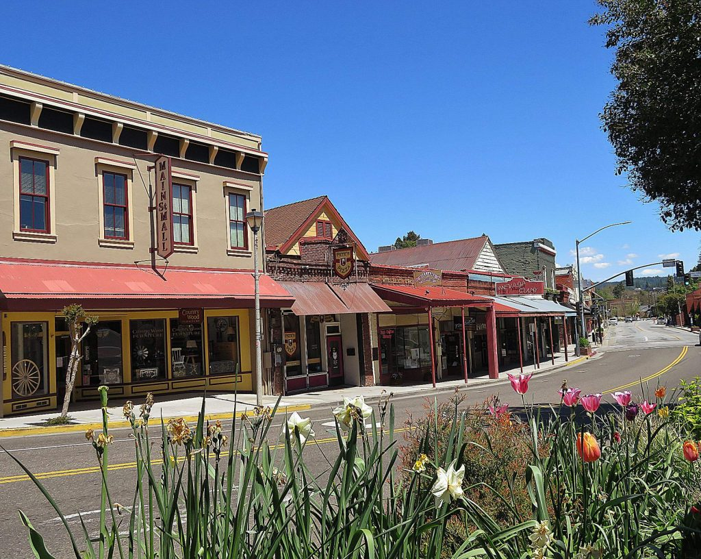 Downtown Grass Valley. Photo taken at 1 p.m. Sunday, April 26, 2020.