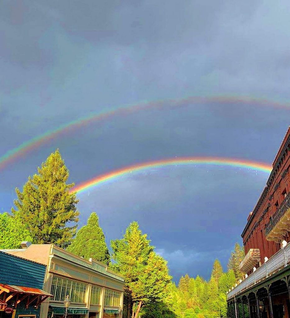 At least a double rainbow over Nevada City!
