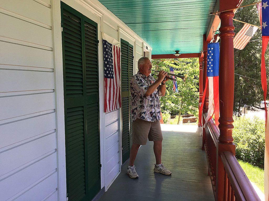 Celebrating Memorial Day nationwide by playing taps at 3 p.m. here in California, sunset back east.