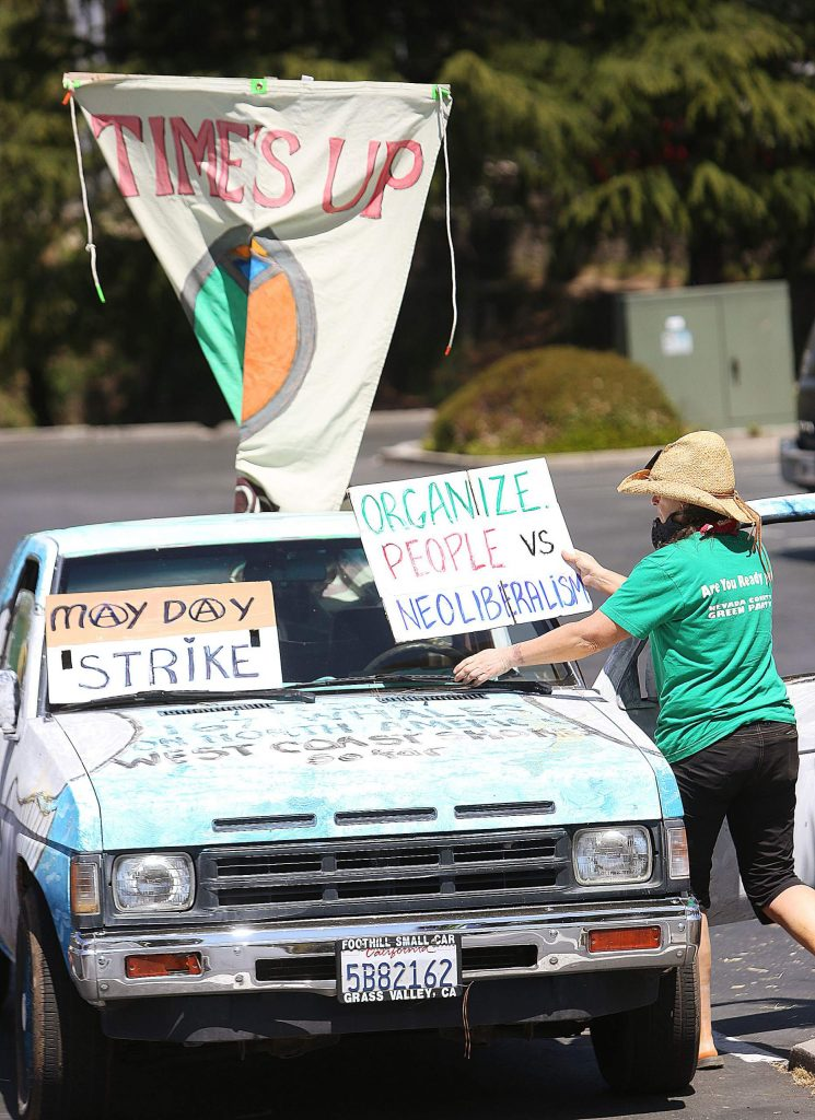 Friday's vehicle protest was not necessarily about the pandemic itself, but for workers rights and protections including not lowering wages for farmworkers and for proper protective gear for the medical industry.