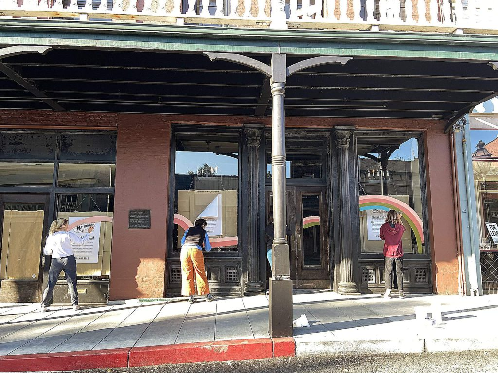At least 15 businesses have joined the Rainbows for Hope campaign, according to Gretchen Bond, executive director of the Miner's Foundry Cultural Center.