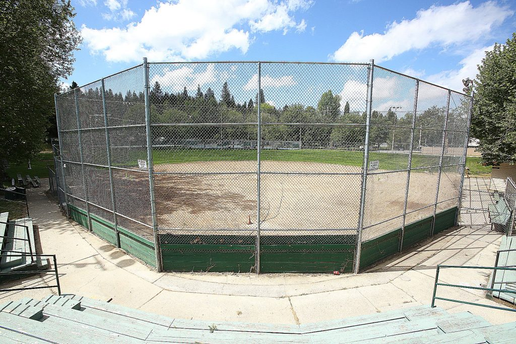 Les Eva Field at Memorial Park sits idle as team sports have yet to be allowed due to COVID-19 concerns.