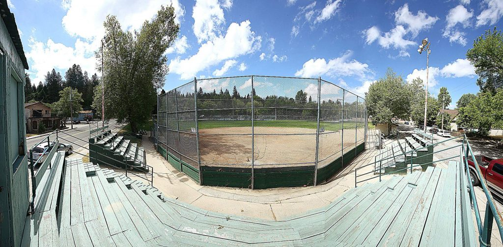 Les Eva Field at Grass Valley's Memorial Park is usually host to adult sports softball leagues. Games are on hold at the park due to COVID-19 social distancing guidelines.