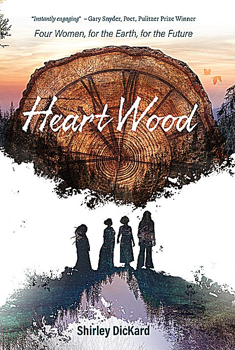 """Shirley DicKard first novel """"Heart Wood"""" is available for purchase at our local book stores."""